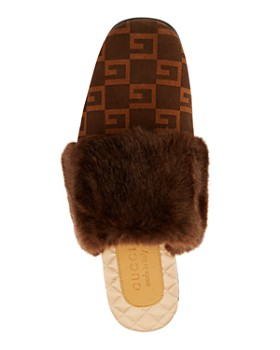 Gucci - Lawrence Faux Fur Mules
