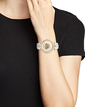 Versace Collection - Palazzo White & Yellow Gold-Pated Empire Watch, 39mm