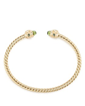David Yurman - Renaissance Bracelet with Peridot in 18K Gold
