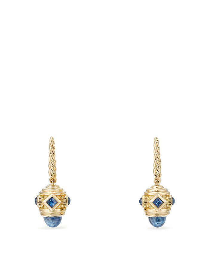 David Yurman - Renaissance Drop Earrings with Light Blue Sapphire in 18K Gold