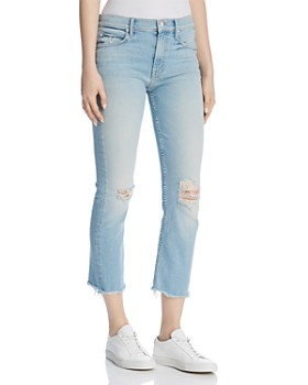 MOTHER - The Dutch Distressed Straight-Leg Ankle Jeans in Good From The Start - 100% Exclusive