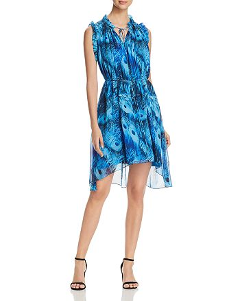 Elie Tahari - Balere Feather-Print Silk Dress