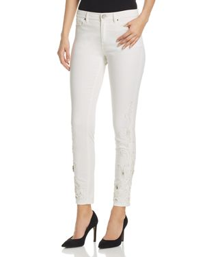 Elie Tahari Azella Embellished Jeans in White 2867916