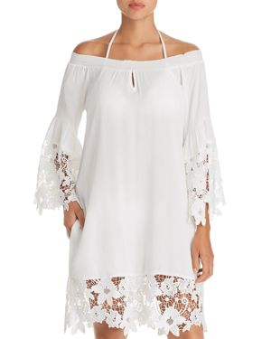 MUCHE ET MUCHETTE Muche Et Muchette Jolie Floral Lace Swim Cover-Up in White