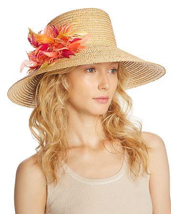 Eugenia Kim - Annabelle Feather Detail Straw Sun Hat