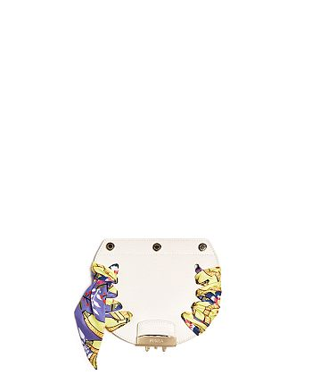 Furla - MY PLAY Interchangeable Metropolis Mini Banana Print Scarf Leather Flap
