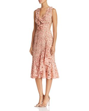 SAU LEE Amelia Sleeveless Floral-Lace Dress in Pink