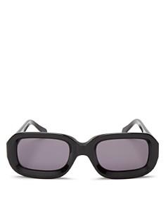 Illesteva - Women's Vinyl Rectangle Sunglasses, 52mm