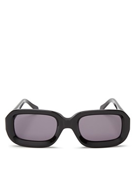 Illesteva - Women's Vinyl Rectangle Sunglasses, 52mm