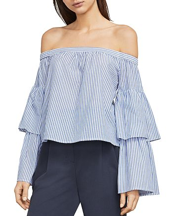 BCBGMAXAZRIA - Callison Bell Sleeve Off-the-Shoulder Top