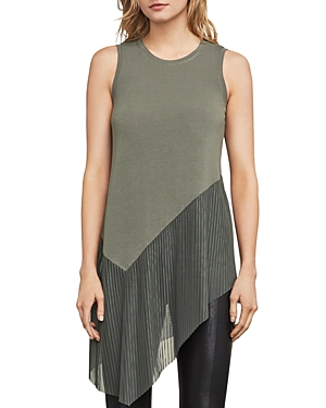 Bcbgmaxazria Annabelle Asymmetric Pleated-Hem Top