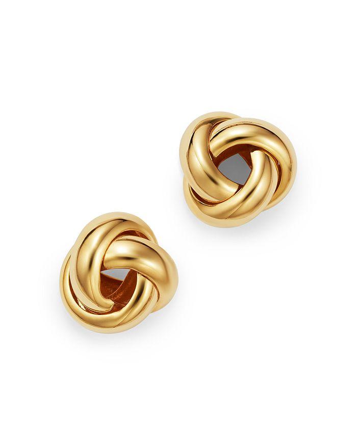 Bloomingdale's - Love Knot Stud Earrings in 14K Yellow Gold - 100% Exclusive