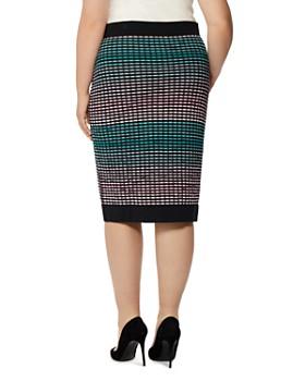 Rebel Wilson x Angels Plus - Jacquard Knit Pencil Skirt