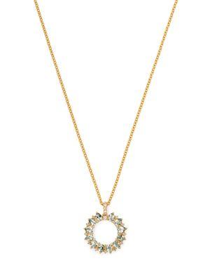 Kiki McDonough 18K Yellow Gold Juno Green Amethyst & Diamond Sunflower Pendant Necklace, 18