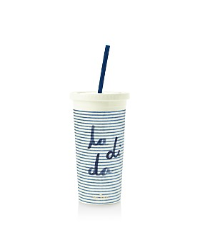 kate spade new york - Seersucker Tumbler with Straw