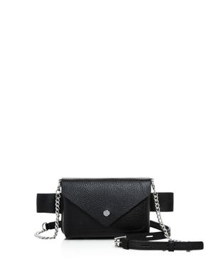 Vivi Calfskin Leather Convertible Belt Bag - Black