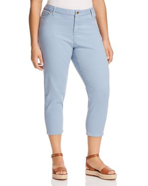 Michael Michael Kors Plus Cropped Skinny Jeans in Chambray 2907546