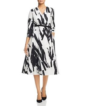 Weekend Max Mara - Cartone Brushstroke-Print Wrap Dress