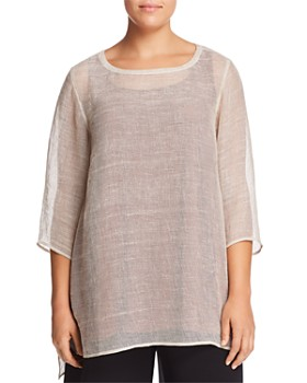 Eileen Fisher Plus - Sheer Tunic Top