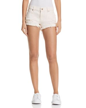 PISTOLA GIGI DISTRESSED CUTOFF DENIM SHORTS IN ROSE