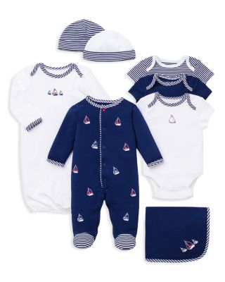 Boys' Sailboats Footie & Hat Set - Baby