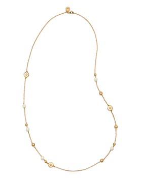 Tory Burch - Logo Rosary Necklace, 36""