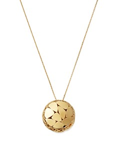"Bloomingdale's - Pebble Pattern Circle Pendant Necklace in 14K Yellow Gold, 20"" - 100% Exclusive"