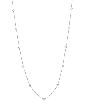 Diamond Station Necklace in 14K White Gold, 1.0 ct. t.w.