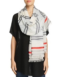 AQUA All Over Stripe Wrap Scarf - Bloomingdale's_0