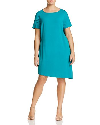 Eileen Fisher Plus - Asymmetric Shift Dress