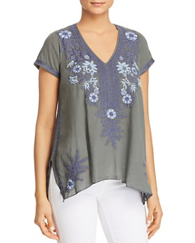Johnny Was - Lila Jo Draped Embroidered Floral Top