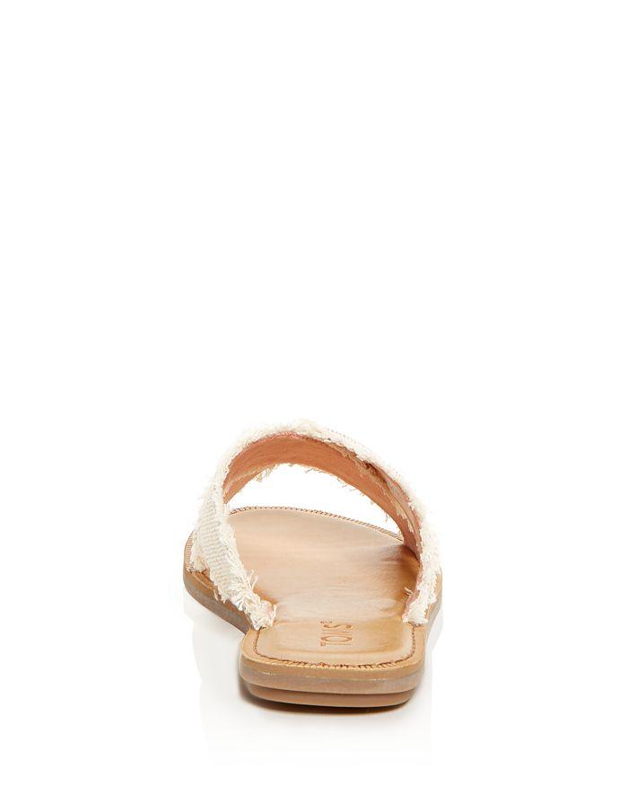 5c412795c0a TOMS Women's Viv Metallic Jute Fringe Crisscross Slide Sandals ...