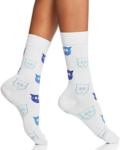 Happy Socks Cat Crew Socks - Bloomingdale's_0