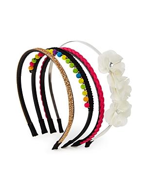 Capelli Girls Embellished Headbands Set of 4