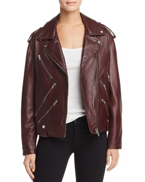 Mcq Alexander Mcqueen Multi-Zip Biker Jacket - Red, Cherry
