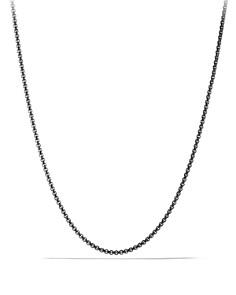 "David Yurman - Small Box Chain Necklace, 24"""
