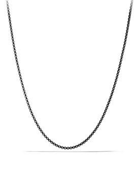 "David Yurman - Small Box Chain Necklace 2.7mm, 24"""