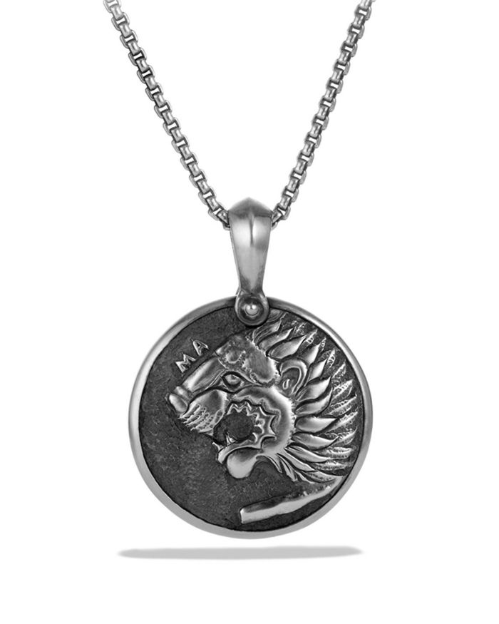 David Yurman Petrvs Lion Coin Amulet     Bloomingdale's