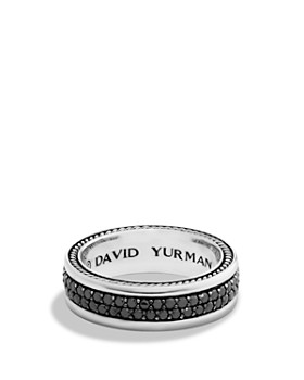David Yurman - Streamline Two-Row Band Ring with Black Diamonds
