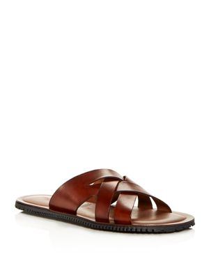 The Men's Store at Bloomingdale's Woven Leather Slide Sandals - 100% Exclusive