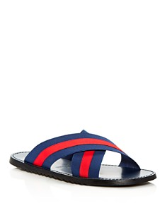 The Men's Store at Bloomingdale's - Men's Striped Slide Sandals - 100% Exclusive