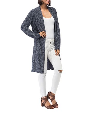 B Collection by Bobeau - Jay Marled Open-Front Duster