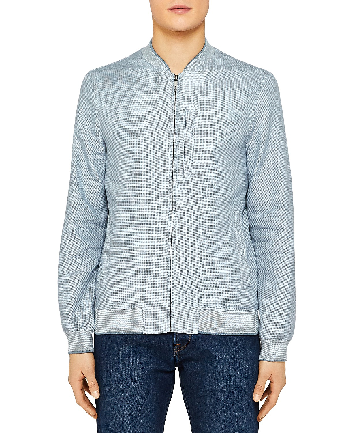 Ted Baker Raney Tech Linen Bomber | Bloomingdale\'s
