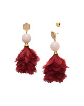 Tory Burch - Feather Drop Earrings
