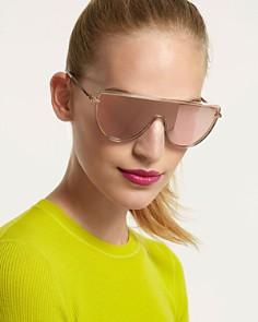 rag & bone - Women's Mirrored Shield Sunglasses, 49.5mm