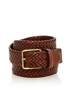 Cole Haan Woven Stretch Leather Belt - Bloomingdale's_0