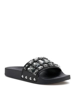 Botkier Women's Freda Embellished Slide Sandals