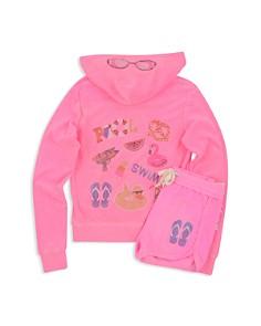 Butter Girls' Embellished Pool Day Fleece Hoodie & Shorts - Big Kid - Bloomingdale's_0