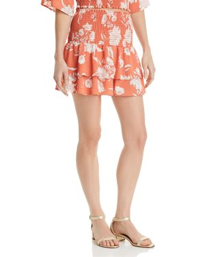 SAGE THE LABEL SENORA PRINTED TIERED MINI SKIRT - 100% EXCLUSIVE