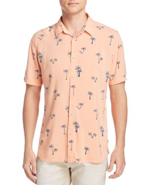 BARNEY COOLS PALM TREE BUTTON-DOWN SHIRT - 100% EXCLUSIVE
